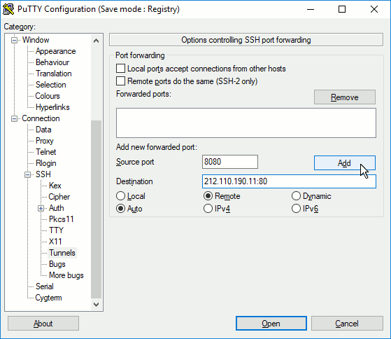 Making an indirect connection to Remote Assistance