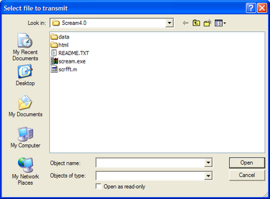 Selecting a file to transmit