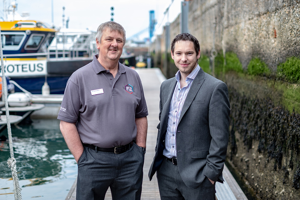 Geraint West, Global Business Manager, Ocean Sciences, Sonardyne (left), and Neil Watkiss, Commercial Director, Güralp.