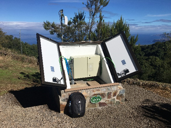 Image of completed seismic station